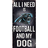 "Fan Creations ""All I Need is Football and My Dog"" NFL Wood Sign, Carolina Panthers"