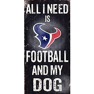 "Fan Creations ""All I Need is Football and My Dog"" NFL Wood Sign, Houston Texans"