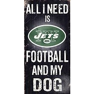 "Fan Creations ""All I Need is Football and My Dog"" NFL Wood Sign, New York Jets"