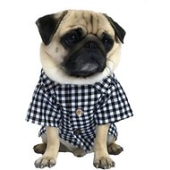 Dog Threads Classic Gingham Dog Shirt, X-Small