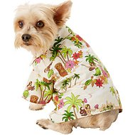 Dog Threads Hula Dancers BBQ Dog Shirt, X-Small