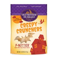 Old Mother Hubbard Halloween Creepy Crunchers P-Nuttier Biscuits Baked Dog Treats, 6-oz bag