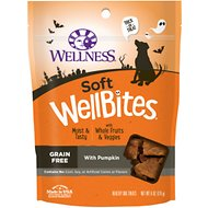 Wellness Soft Wellbites Halloween Pumpkin Grain-Free Dog Treats, 6-oz bag