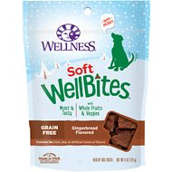 Wellness Soft Wellbites Holiday Gingerbread Grain-Free Dog Treats, 6-oz bag