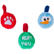 Outward Hound Plush Ornaments Christmas Dog Toys, 3-Pack
