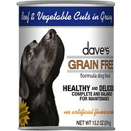 Dave's Pet Food Grain-Free Beef & Vegetable Cuts in Gravy Canned Dog Food, 13-oz, case of 12