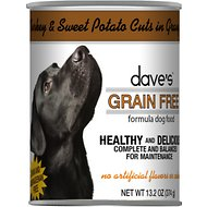 Dave's Pet Food Grain-Free Turkey & Sweet Potato Cuts in Gravy Canned Dog Food, 13-oz, case of 12