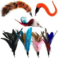 Pet Fit For Life 7 Piece Replacement Feather Pack for Wand Cat Toy