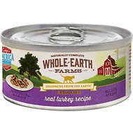 Whole Earth Farms Grain-Free Real Turkey Morsels in Gravy Canned Cat Food, 2.75-oz, case of 24