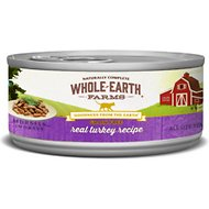 Whole Earth Farms Grain-Free Real Turkey Morsels in Gravy Canned Cat Food, 5-oz, case of 24