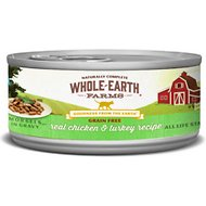 Whole Earth Farms Grain-Free Real Chicken & Turkey Morsels in Gravy Canned Cat Food, 5-oz, case of 24