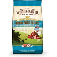 Whole Earth Farms Grain-Free Real Whitefish & Tuna Recipe Dry Cat Food, 5-lb bag