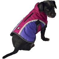 PetRageous Designs Calgary Dog Coat, Magenta, Small