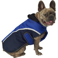 PetRageous Designs Calgary Dog Coat, Navy, Medium