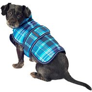 PetRageous Designs Kodiak Dog Coat, Teal Plaid, Small
