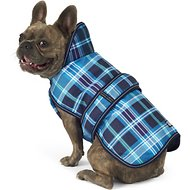 Petrageous Designs Kodiak Dog Coat, Medium, Teal Plaid