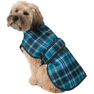 PetRageous Designs Kodiak Dog Coat, Teal Plaid, Large
