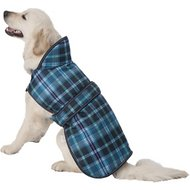 PetRageous Designs Kodiak Dog Coat, Teal Plaid, X-Large