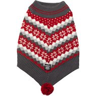 PetRageous Prancer's Dog Poncho, Medium, Red