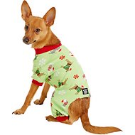 Petrageous Designs Holiday Dog Pajamas, Medium, Green