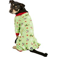 Petrageous Designs Holiday Dog Pajamas, Large, Green