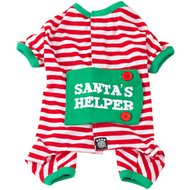 Petrageous Designs Santa's Helper Dog Pajamas, X-Small