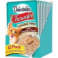 Hartz Delectables Chowder Chicken & Tuna Lickable Cat Treat, 1.4-oz, case of 12
