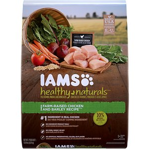 Iams Healthy Naturals Chicken & Barley Recipe Adult Dry Dog Food, 13.8-lb bag