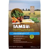 Iams Healthy Naturals Ocean Fish & Rice Recipe Adult Dry Dog Food, 19-lb bag