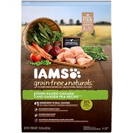 Iams Grain-Free Naturals Chicken & Garden Pea Recipe Adult Dry Dog Food, 19-lb bag