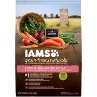 Iams Grain-Free Naturals Salmon & Red Lentil Recipe Adult Dry Dog Food, 19-lb bag