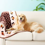 Smart Pet Love Heart Pattern Dog Blanket, Pink