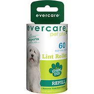 Evercare Pet Plus Extreme Stick Pet Lint Roller Refill, 60-sheets
