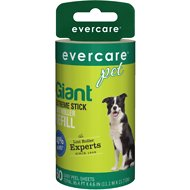 Evercare Pet Plus Giant Extreme Stick Pet Lint Roller Refill, 60 sheets