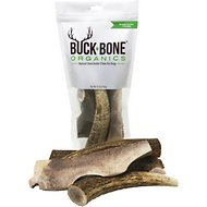 Buck Bone Organics Elk Antler Dog Chews, 1-lb bag