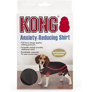 KONG Anxiety-Reducing Dog Shirt, Black, XX-Small