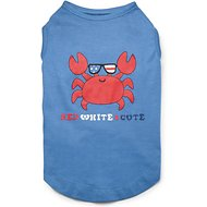 Zack & Zoey Red White & Cute UPF 40 Dog & Cat T-Shirt, XX-Small