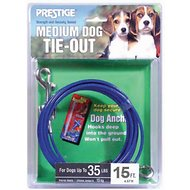 Boss Pet Prestige Dog Tie-Out, Medium, Blue, 15 feet