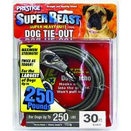 Boss Pet Prestige Dog Tie-Out, Super Beast, Black, 30-ft
