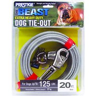 Boss Pet Prestige Dog Tie-Out with Spring, Beast, Silver, 20 feet