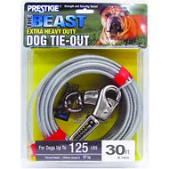 Boss Pet Prestige Dog Tie-Out with Spring, Beast, Silver, 30-ft