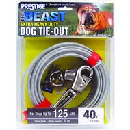 Boss Pet Prestige Dog Tie-Out with Spring, Beast, Silver, 40-ft