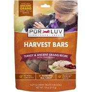 Pur Luv Harvest Bars Turkey & Ancient Grains Recipe Dog Treats, 18-oz bag