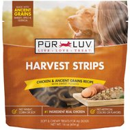 Pur Luv Harvest Strips Chicken & Ancient Grains Recipe with Sweet Potato Dog Treats, 16-oz bag