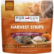 Pur Luv Harvest Strips Turkey & Ancient Grains Recipe with Pumpkin Dog Treats, 16-oz bag
