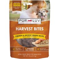 Pur Luv Harvest Bites Chicken & Ancient Grains Recipe with Sweet Potato Dog Treats, 18-oz bag