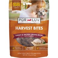 Pur Luv Harvest Bites Turkey & Ancient Grains Recipe with Pumpkin Dog Treats, 18-oz bag