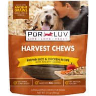 Pur Luv Harvest Chews Brown Rice & Chicken Recipe with Ancient Grains Dog Treats, 21-oz bag