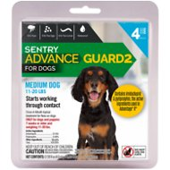 Sentry Advance Guard 2 Flea Treatment for Medium Dogs 11-20 lbs, 4 treatments