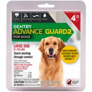 Sentry Advance Guard 2 Flea Treatment for Large Dogs 21-55 lbs, 4 treatments
